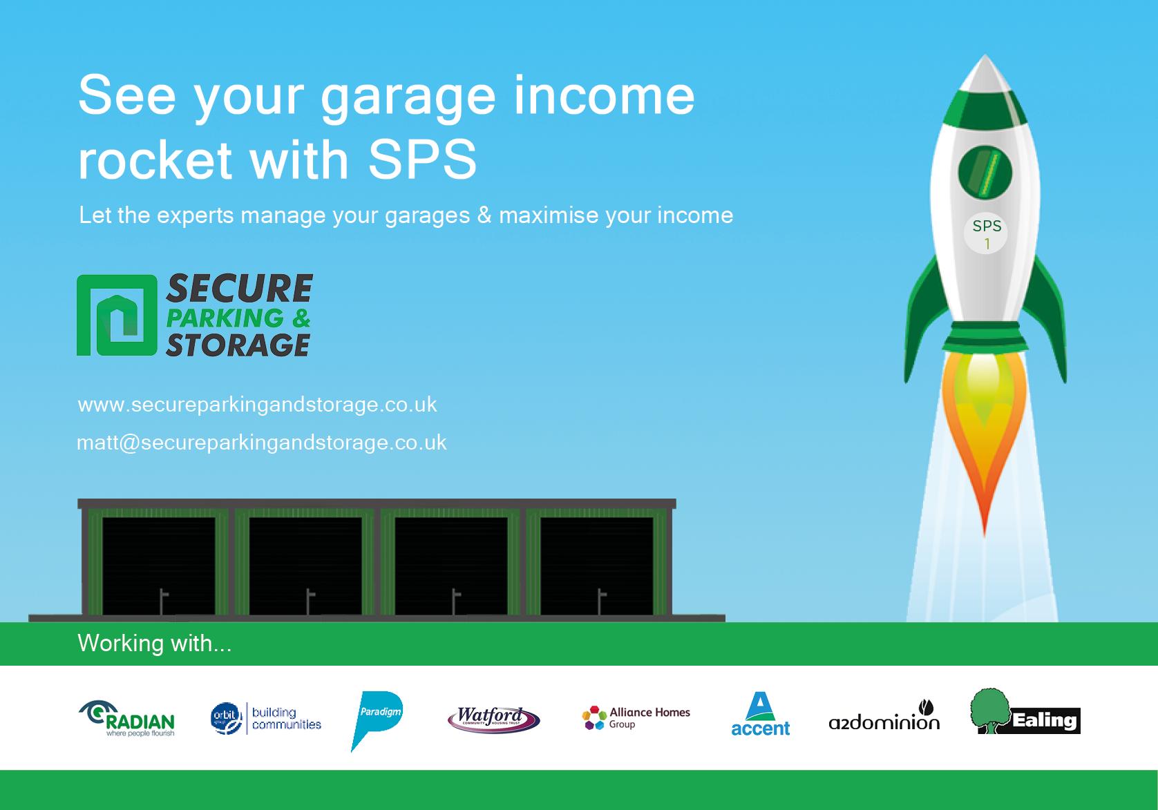 Social landlords increase garage rental use garage management